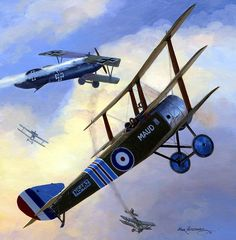 Sopwith Triplane 'Maud' Charles Booker, by Mark Postlethwaite