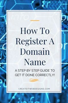 Are you interested in purchasing a domain name?   Registering a domain name or URL is an easy process.  Most domain names cost an average of $20 a year.  You can own one or many domain names.  Grab a piece of the internet to claim as yours!  Plus, included is how to get a domain name for FREE!.  #registerdomainname #webdesign #domainnameideas #howtoblog #howtobuildawebsite #websitedesign Website Web, Simple Website, Custom Website, Create Website, Business Website, Online Business, Domain Name Ideas, Website Security, Website Maintenance