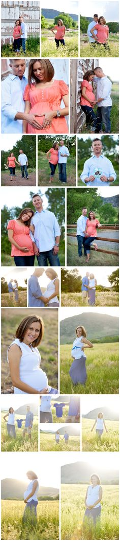 Maternity session in open field with backlit lighting Denver, Colorado Pregnancy and Maternity Photographer - The Vintage Cupcake Photography
