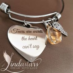 """Sometimes it becomes difficult to express our pain in words, and we are often left with tears in heart. This delicate piece of """"Straight From the Heart Bracelet"""" is a delightful ornament to acknowledge those emotions. Open up your heart with this charming bracelet, accompanied with a heart charm, a dainty angel wing, and a tear shaped crystal, to let your guardian angel hold you back.  https://www.lindastars.com/collections/together-for-ever-collection/products/tears-are-words-bracelet"""