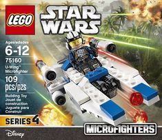 Lego Star Wars 75160 U-Wing Microfighter New Rare Series 4 Rogue One Last Jedi Cake Table Birthday, Lego Birthday Party, U Wing, Shop Lego, Lego War, Lego Storage, Best Kids Toys, Series 4, Building Toys