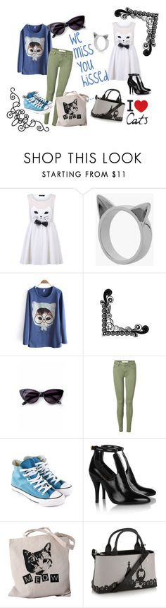 love.cats by triasterina on Polyvore featuring Marc by Marc Jacobs, Converse, Gucci, Meadowlark, Retrò and MTWTFSS Weekday