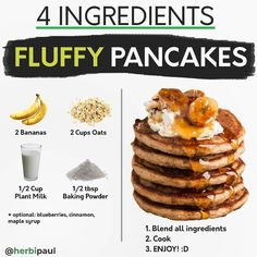 Healthy Breakfast Choices, Vegan Breakfast Recipes, Delicious Vegan Recipes, Vegetarian Recipes, Yummy Food, Fun Baking Recipes, Cooking Recipes, Courge Spaghetti, Vegan Baking