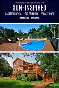 12 Vacation Rentals With Private Pools Ideas Ocracoke Island Island Vacation Rentals Ocracoke