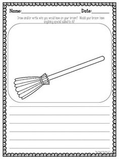 There are so many fun characters in the Halloween story Room on the Broom by Julia Donaldson.  With this FREEBIE your students can create their own companions to ride on their broom!  You don't have to read Room on the Broom to be able to use this freebie though.  It is simple enough that it can be used a general activity.  You can use it to target writing, sentence structure, and more!