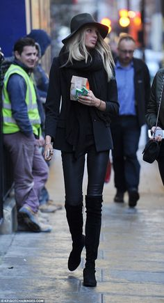 Letting her hair down: Romee Strijd headed out to buy some cookies on Wednesday following ...