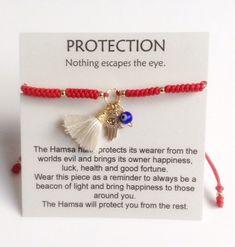 Red Protection Bracelet Red Cord Bracelet Lucky Charms | Etsy Handmade Beaded Jewelry, Diy Jewelry, Women Jewelry, Jewelry Making, Ladies Jewelry, Evil Eye Jewelry, Evil Eye Bracelet, Wish Bracelets, Macrame Bracelets