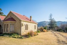 """Interesting places to visit in South Africa - Clarens is a small town situated in the foothills of the Maluti Mountains in the Free State province and nicknamed the """"Jewel of the Eastern Free State. Free State, Small Towns, South Africa, Tourism, Places To Visit, Country Cottages, Cabin, Vacation, House Styles"""