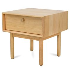 Kenston Lamp side table with drawer - Natural $225
