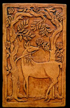 Deer in the rose garden leftMade to order by agapanthertiles, $60.00