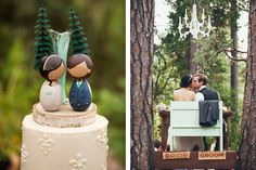 Kokeshi dolls cake toppers. These are so cute! Bill and I found ones that can be personalized ninjas.