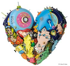 Eric Liot Heart Sculptures at if it's hip, it's here