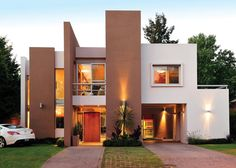 Modern home design Beautiful Small Homes, Beautiful Home Designs, Bungalow Haus Design, Modern House Design, Modern Architecture House, Architecture Design, Ultra Modern Homes, Design Exterior, Contemporary Building