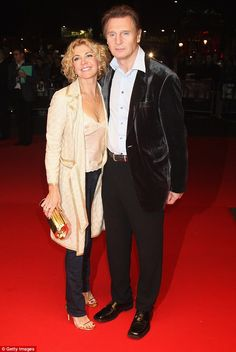 Lonesome: Since her tragic death of his wife Natasha Richardson in a skiing accident in Liam Neeson (pictured with Natasha) has barely dated at all Actor Liam Neeson, Natasha Richardson, Vanessa Redgrave, Cinema, Lucky Ladies, Handsome Actors, Julia Roberts, Special People, Vanity Fair