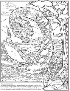 Loch Ness Monster colouring page | Scotland/England Trip ...