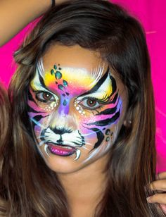How to Face Paint a Tiger Mask (+playlist)