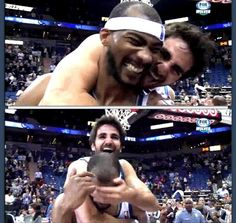 Ricky Rubio and Corey Brewer!! So cute!