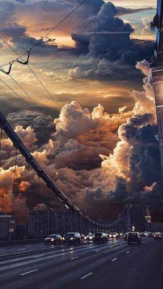 Clouds - Nature wallpaper - Sky art - Cloud wallpaper - Rain wallpapers - Iphone wallpaper - N Natur Wallpaper, Cloud Wallpaper, Scenery Wallpaper, City Wallpaper, Aesthetic Pastel Wallpaper, Aesthetic Backgrounds, Aesthetic Wallpapers, Wallpaper Backgrounds, Clouds Wallpaper Iphone