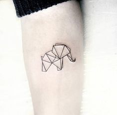 Elephants are super adorable and that's why they make perfect tattoo designs. Here are some of our fave small elephant tattoo designs we guarantee you'll love. Mini Tattoos, Trendy Tattoos, Cute Tattoos, New Tattoos, Small Tattoos, Tatoos, Origami Tattoo, Tattoos Geometric, Geometric Tattoo Design