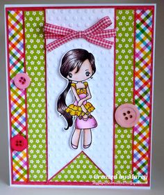My Paperie Dreams: TGF Farm Fresh Friday Challenge: Miss Anya Summer in bows and buttons