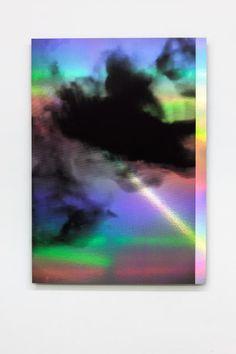 Anna Barham, squidinkscreen.jpg, 2015, UV print on holographic paper mounted on aluminium, 96.8 x 68.8 cm