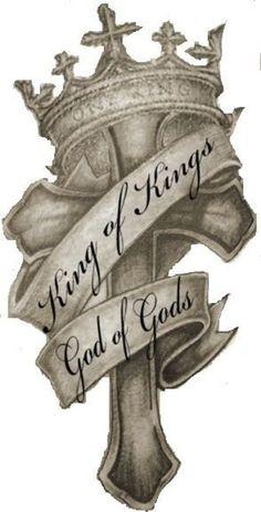 King God Cross Crown Tattoo Design | Tattoobite.com