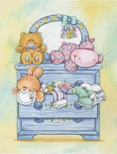 love the dresser Nici Teddy, Baby Shower Clipart, Baby Journal, Baby Album, Baby Christening, Baby Art, Baby Scrapbook, Digi Stamps, Baby Prints