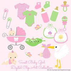 Sweet Baby Love II Digital Clipart Collection  by Dragonflytwist, $5.00