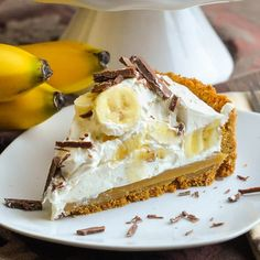 Banoffee Pie. A dessert favourite in the UK, this luscious banana, caramel toffee, cream, graham cracker crust delight will have everyone at the table asking for seconds. Better make two!