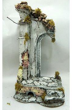 Presepe a Tempio Artigianale 11x15x30 Cm