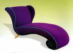 Outdoor chaise, one of the most versatile piece of furniture, especially, in the summer or while having sunbath. Imagine yourself sitting poolside on an outdoor chaise lounge. Purple Furniture, Funky Furniture, Unique Furniture, Purple Home, Purple Chair, All Things Purple, Purple Stuff, Purple Reign, Lounges