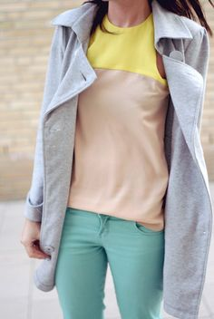 loving the neon neutral trend for Spring