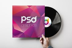 Free Vinyl Record Cover Mockup PSD | PSD.Graphics | #free #photoshop #mockup…