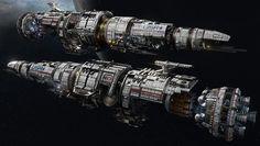 """USR """"Flagship"""" - Fractured Space, Hans Palm on ArtStation at https://www.artstation.com/artwork/usr-flagship-fractured-space"""