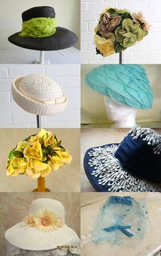 Vintage Easter Bonnets: Get Yours Soon!  by   Pam Maloney from RunwayDogFashion            --Pinned with TreasuryPin.com