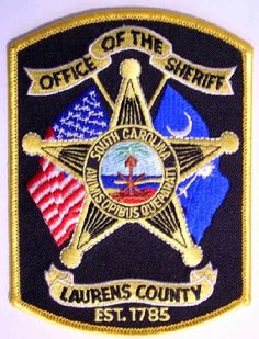 Laurens county Sheriff SC patch