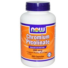 Now Foods, Chromium Picolinate, 200 mcg, 250 Capsules  Use Rewards Code CVQ516 to get $5 off your 1st order at iHerb.