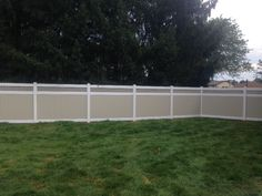 This is a favorite Mix N Match style vinyl fence beige panels