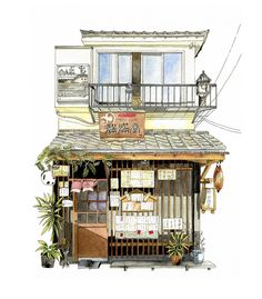 Cafe Man-Man-Dou at Yanaka Tokyo #kinfineart