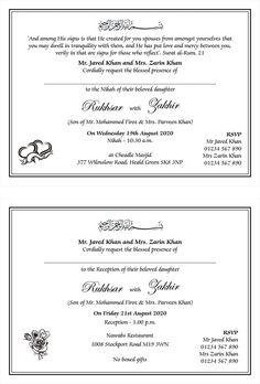 Wedding Invitation Wording For Muslim Wedding Ceremony Muslim