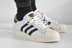 アディダス オリジナルス スーパースター 80s OG - ホワイト/ブラック、adidas Originals Superstar 80s OG - White/Black