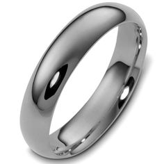 Titanium 5mm Wide Comfort Fit Plain Wedding Band | www.weddingbands.com | @Wedding Bands