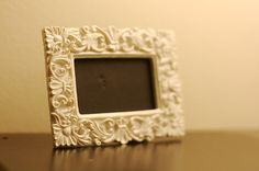 Mini Chalkboard  White Frame by eschreur on Etsy, $3.00