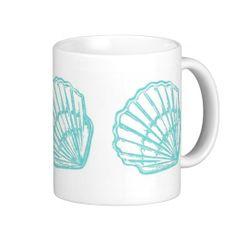 Seashells Mug; Abigail Davidson Art; ArtisanAbigail at Zazzle