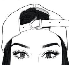 Outline, art, and eyes image more cute drawings, hipster Hipster Drawings, Cute Drawings, Drawing Sketches, Drawing Ideas, Girl Drawings, Pencil Drawings, Tumblr Drawings Easy, Tumblr Sketches, Drawing Art