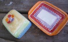 Accessoires - Butterdose mit Blume - ein Designerstück von schuetzkeramik bei DaWanda