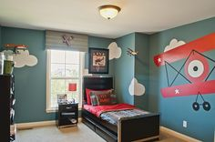 Airplane-themed bedroom for a little boy!