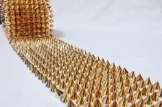 Golden spikes studs 1 foot 12 inches steam punk by KITanik