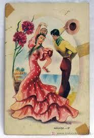 Resultado de imagen de sevillanas bailando dibujos