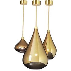 'Hurricane Drops' in gold available in 3 sizes and drops.